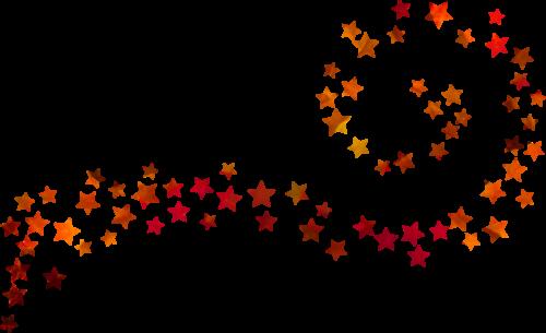 星星线条装饰