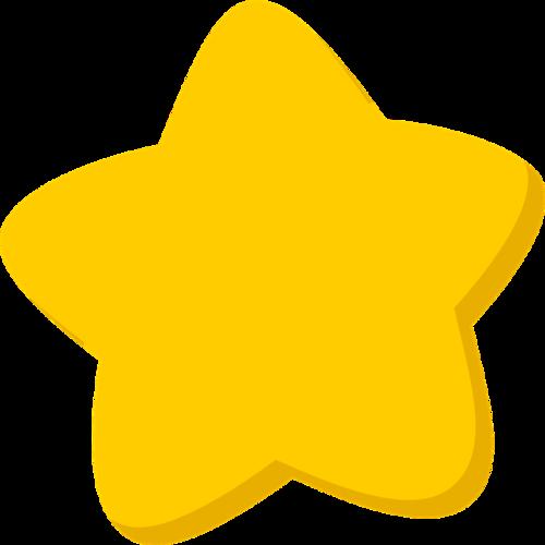 卡通黄色星星