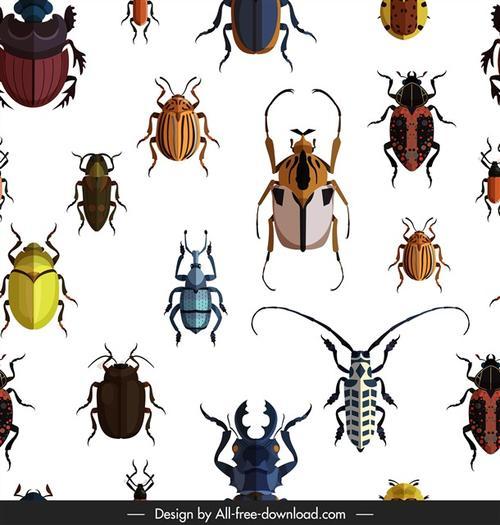 昆虫矢量素材