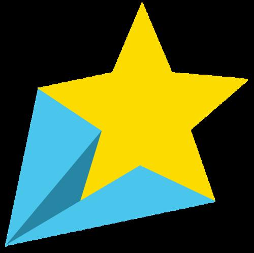 卡通立体星星