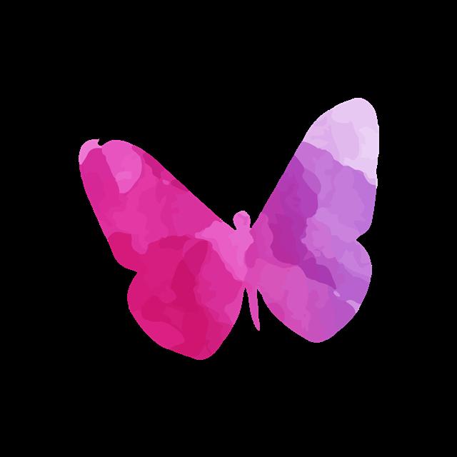 紫色水彩绘蝴蝶