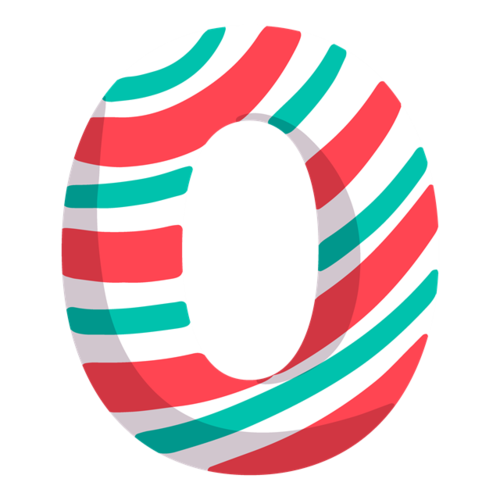 条纹糖果炫彩数字0