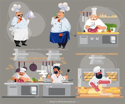 卡通厨师人物