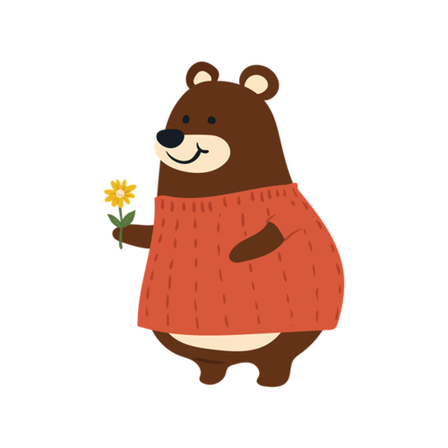 可爱熊妈妈