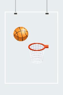 卡通篮球框