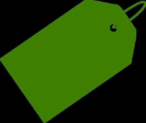 绿色促销标签