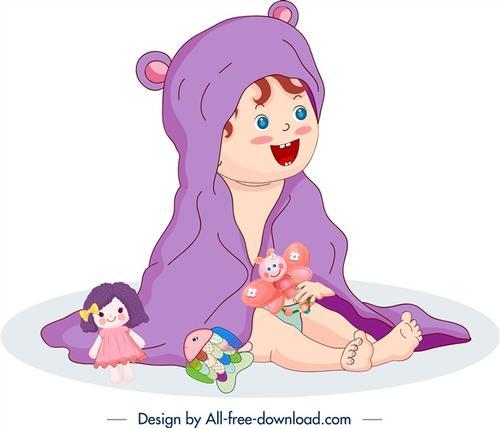 婴儿卡通画图片