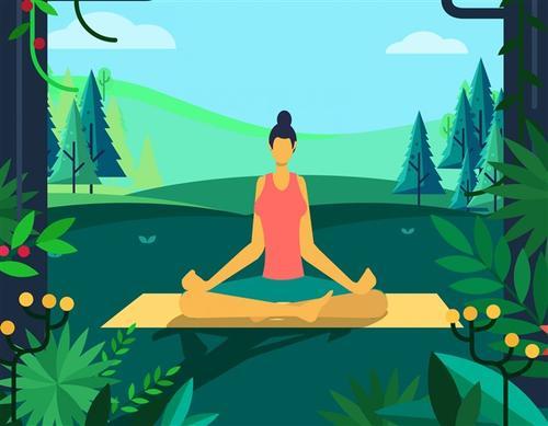 瘦腰瑜伽图片
