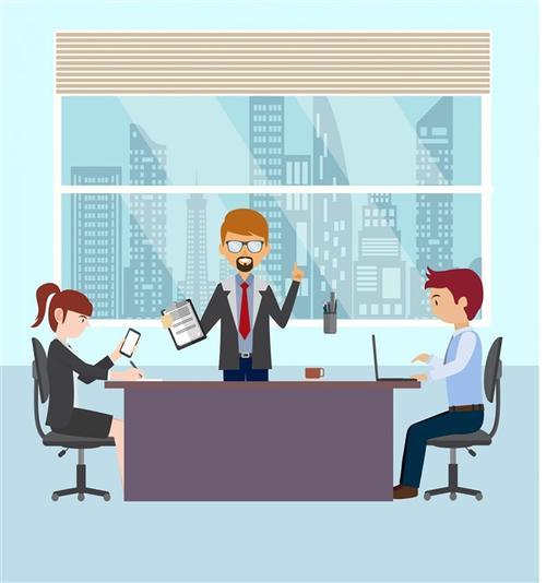 工作会议矢量图