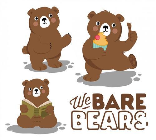 卡通小棕熊