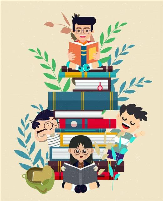 学生书本插图