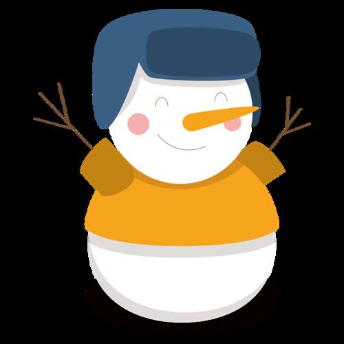 戴军帽的雪人
