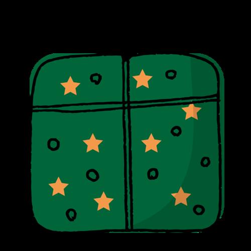 圣诞礼物盒简笔画