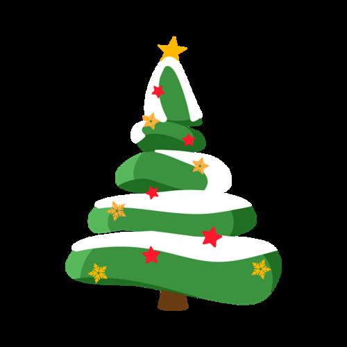 绿色圣诞树装饰图