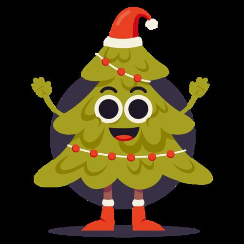 圣诞树大眼睛表情图片