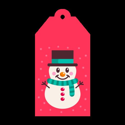 雪人吊牌图片