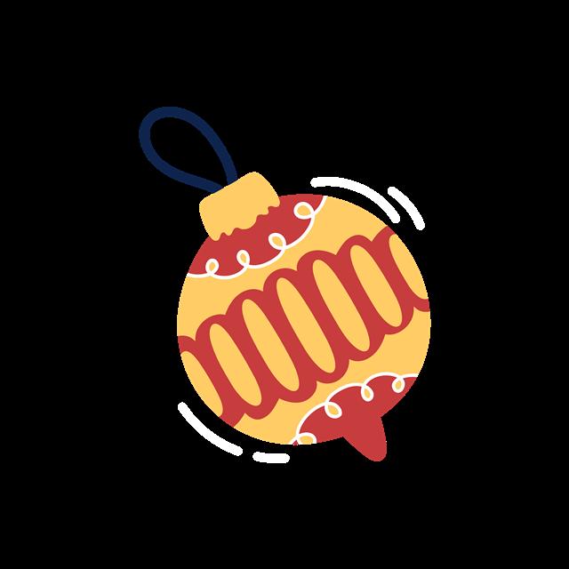圣诞节铃铛装饰图