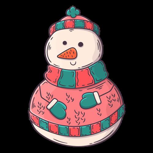 戴帽子的雪人简笔画