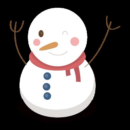 卡通手绘雪人