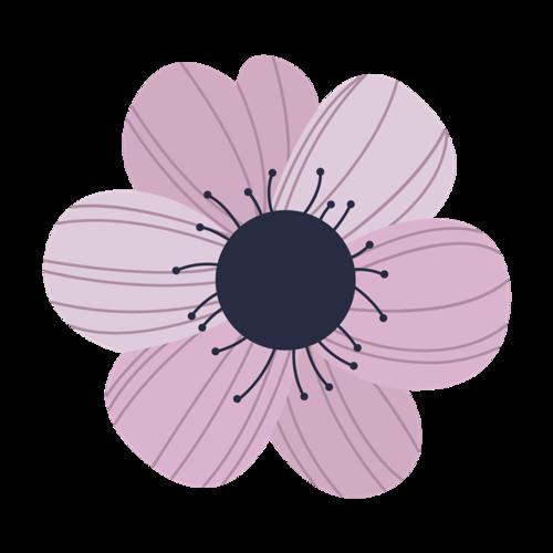 紫色花瓣矢量图