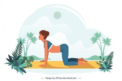瑜伽唯美意境图片