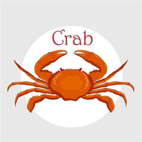 红色螃蟹图片