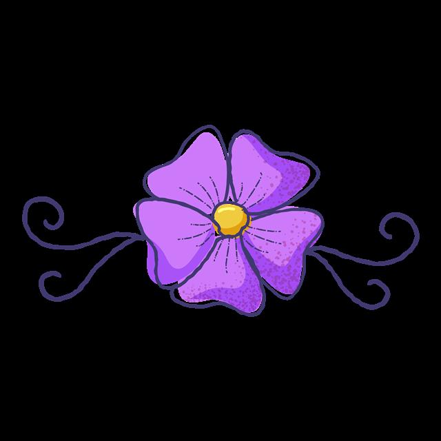 紫色花朵简笔画
