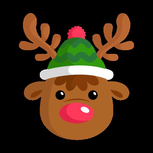 圣诞节麋鹿头像