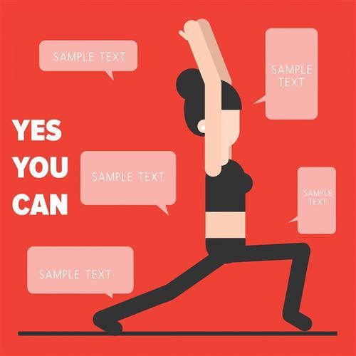 减肥健身女人插画