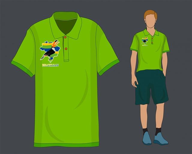 绿色衬衫矢量图