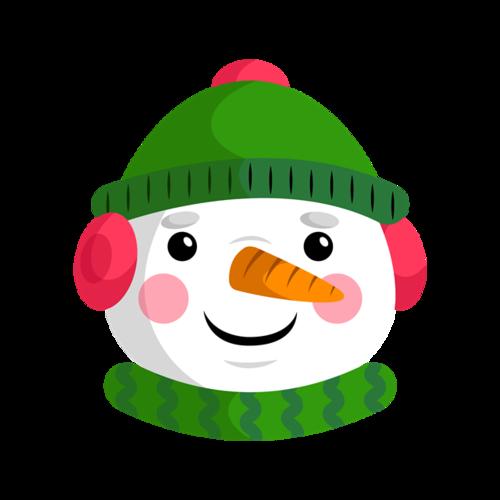 戴帽子的雪人图片