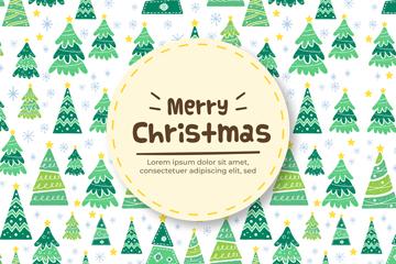 创意圣诞树无缝背景图片