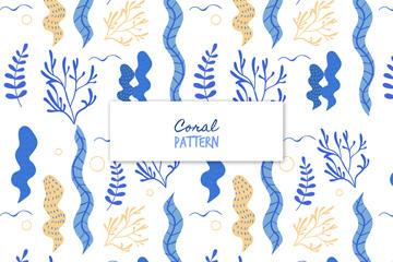 珊瑚海草无缝背景图片