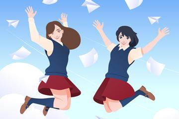 女学生漫画图片