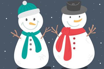 微笑雪人图片