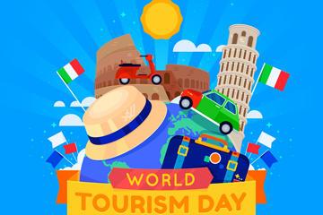世界旅游日海报背景图片