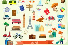 旅游元素矢量图