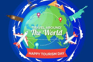 世界旅游日宣传海报图片