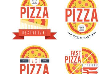 卡通披萨店标志图片