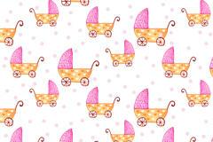 卡通婴儿车图片