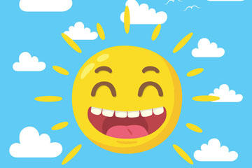 笑脸太阳图片
