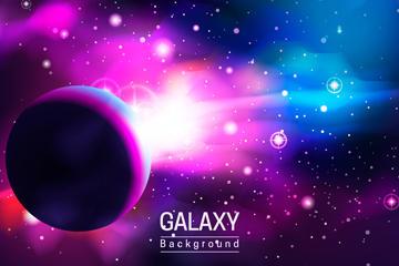 宇宙星系矢量背景图