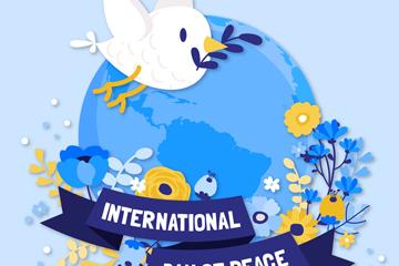 国际和平日信鸽图片