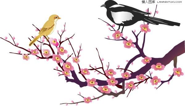 中国古典喜鹊梅花图片