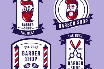 卡通理发店标志图片