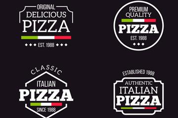 手绘披萨店标志图片