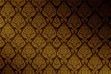 复古金色花纹无缝背景图