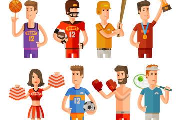 卡通运动人物图片