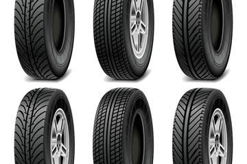 汽车轮胎矢量图