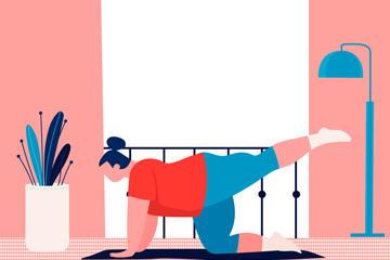瑜伽人物图片
